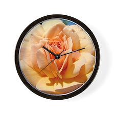 A Rose Peach 1M Roses Rose Garden orang Wall Clock