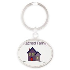 attachedfamily Oval Keychain