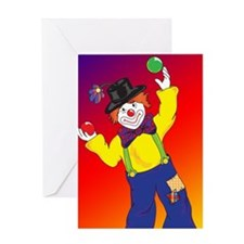 23x35_Clown Poster_4 Greeting Card