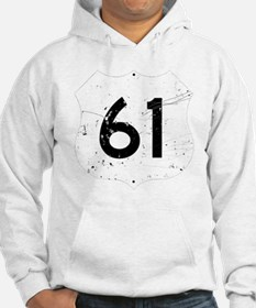 Route 61 Sign Distressed Hoodie