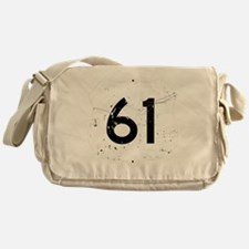 Route 61 Sign Distressed Messenger Bag