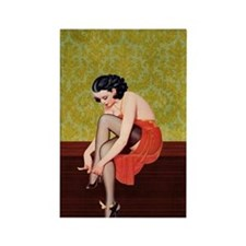 Sexy Woman in Red Poster Rectangle Magnet