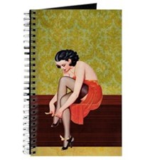 Sexy Woman in Red Poster Journal