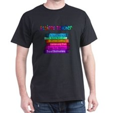 Retired Teacher Book Stack 2011 T-Shirt