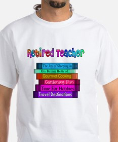 Retired Teacher Book Stack 2011 Shirt