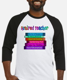 Retired Teacher Book Stack 2011 Baseball Jersey