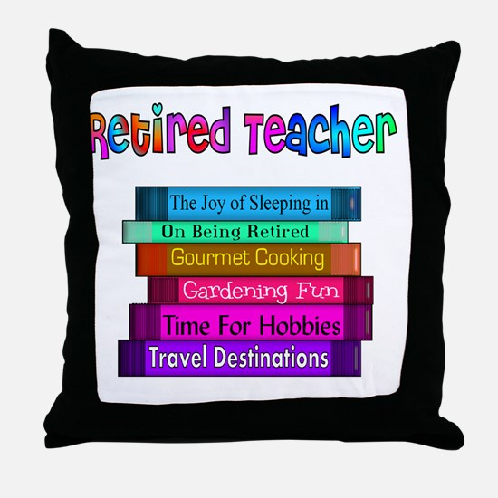 Retired Teacher Book Stack 2011 Throw Pillow
