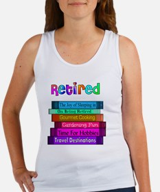 Retired BOOK STACK Women's Tank Top