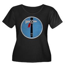 XIX Corp Women's Plus Size Dark Scoop Neck T-Shirt