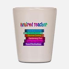 Retired Teacher Book Stack 2011 Shot Glass