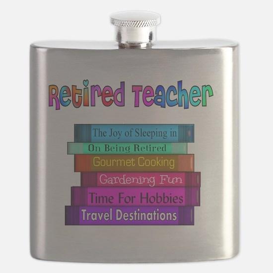 Retired Teacher Book Stack 2011 Flask