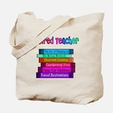 Retired Teacher Book Stack 2011 Tote Bag