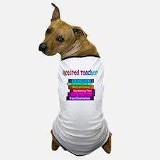 Retired Teacher Book Stack 2011 Dog T-Shirt