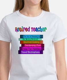 Retired Teacher Book Stack 2011 Women's T-Shirt