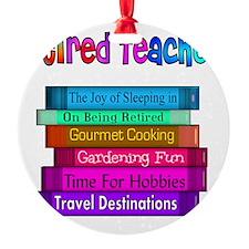 Retired Teacher Book Stack 2011 Ornament