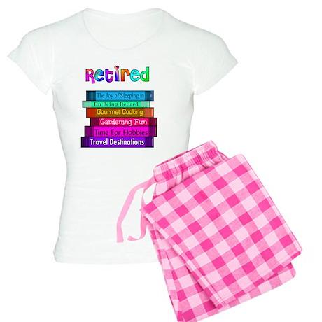 Retired BOOK STACK Women's Light Pajamas