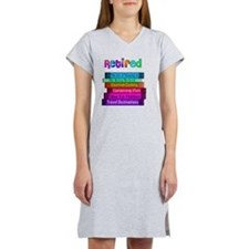 Retired BOOK STACK Women's Nightshirt