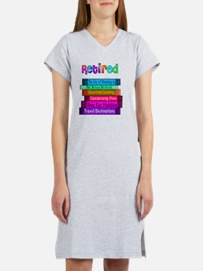 Retired BOOK STACK Women's Nightshirt