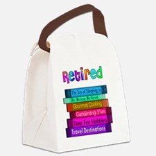 Retired BOOK STACK Canvas Lunch Bag