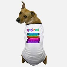Retired BOOK STACK Dog T-Shirt
