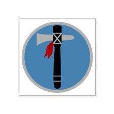 "XIX Corps - 3 Square Sticker 3"" x 3"""