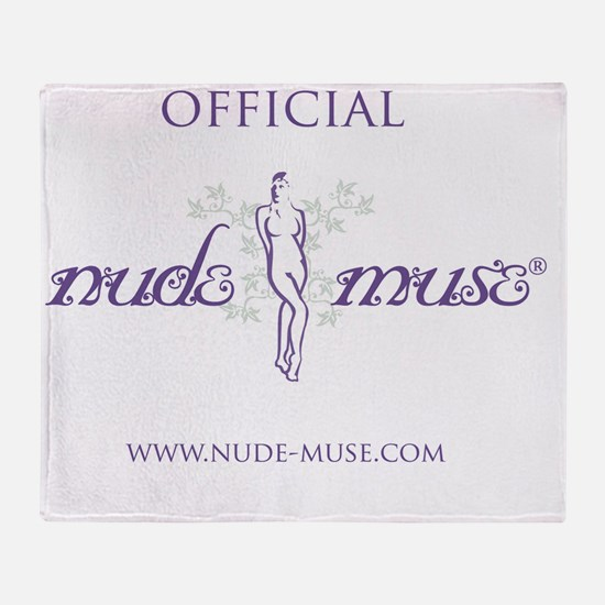 T-Shirt Design_official_nude-muse Throw Blanket
