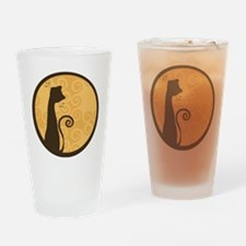Cat Silhouette Drinking Glass