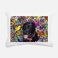 Abby Black Lab Rectangular Canvas Pillow