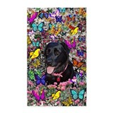 Black labrador retriever Area Rugs