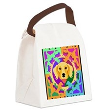 Golden Retriever Graphic for T BL Canvas Lunch Bag
