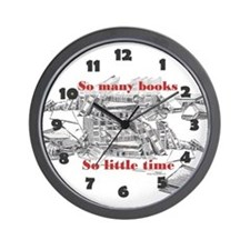 So many books...Wall Clock
