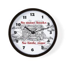 So many books...Wall Clock