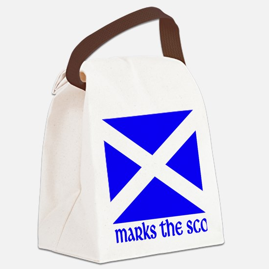 X marks the Scot Canvas Lunch Bag