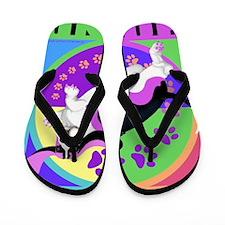 Basset Hound Graphic for T Flip Flops