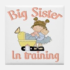 big sister training Tile Coaster