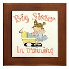 big sister training Framed Tile