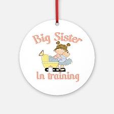 big sister training Round Ornament