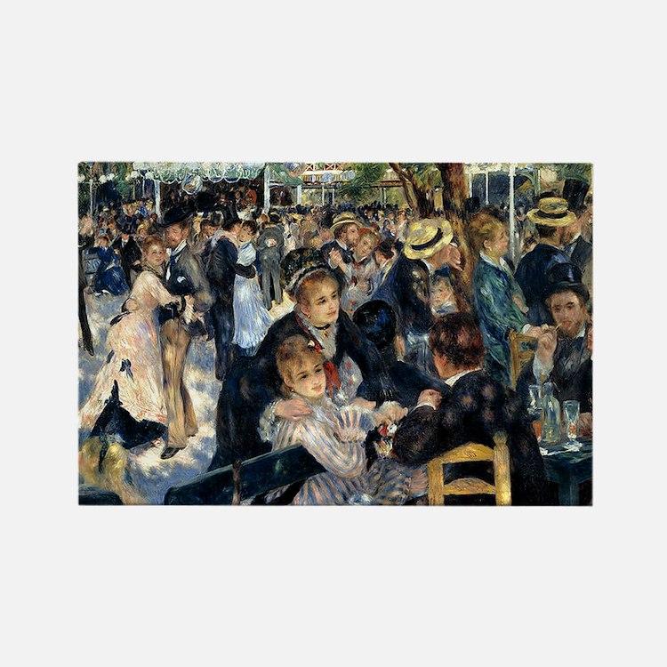 Renoir Le Moulin de la Galette Rectangle Magnet