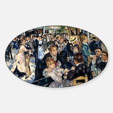 Renoir Le Moulin de la Galette Sticker (Oval)