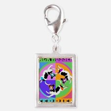 Jack Russell Terrier Graphic Silver Portrait Charm