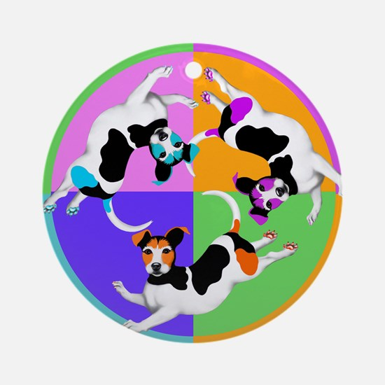 Jack Russell Terrier Graphic Round Ornament