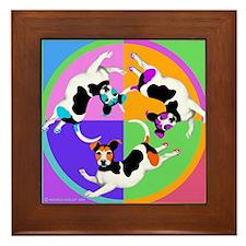 Jack Russell Terrier Graphic Framed Tile