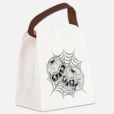 Spider Web Skulls Canvas Lunch Bag