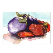 eggplantpeppers Postcards (Package of 8)