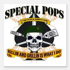 "SPECIAL FORCES Square Car Magnet 3"" x 3"""