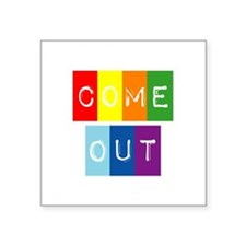 "Dark-Dont-hide-come-out Square Sticker 3"" x 3"""