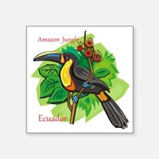 "ecuador Square Sticker 3"" x 3"""