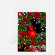 SPARKLING CARDINAL Greeting Card