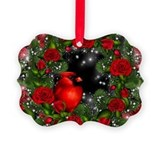 Cardinal christmas Picture Frame Ornaments