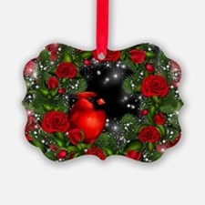SPARKLING CARDINAL Picture Ornament
